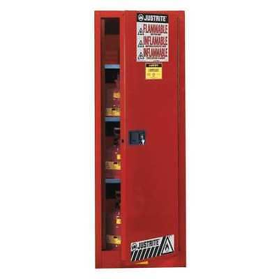 Flammable Cabinet,54 Gal.,Red JUSTRITE 895401