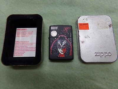 1998 Kiss Gene Simmons Zippo Windproof Lighter ~ NEW In Box