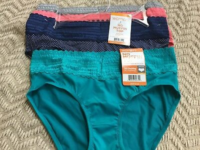 e89405607677 NEW WARNER'S LACE Nylon Hipsters/HI-CUT Size 8/XLARGE ( lot of 5 ...