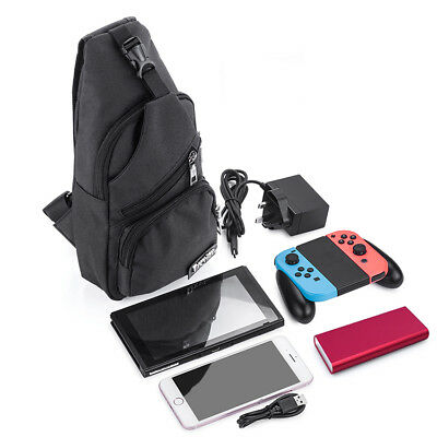 Nintendo Switch Backpack Crossbody Travel Bag For Console Joy-Cons Accessories