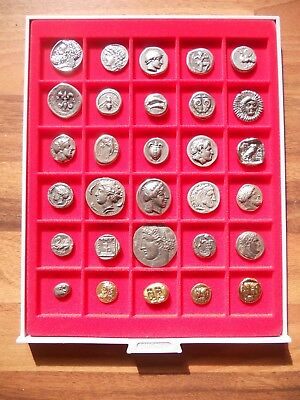 Lot Of 30 Greek Assorted Silver & Gold Plated Ancient Coins Educational Gift