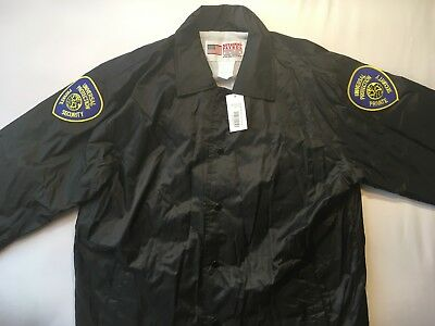 NEW Security Guard Windbreaker Jacket with Shoulder/Back Patches XL