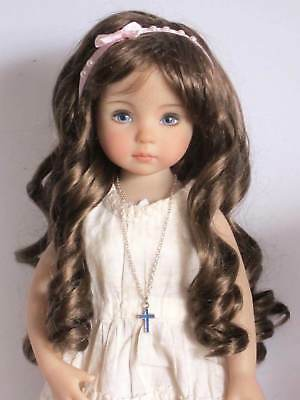 "Ringlets wig for Little Darling doll 13""Dianna Effner-7/8""(18/19cm)-Light brown"