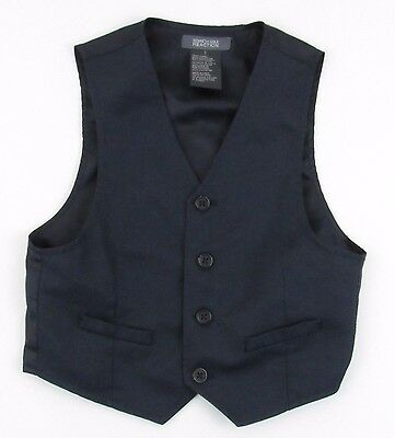 Suit Vest Size 5 Boys Navy Blue Lined Waistcoat Sleeveless Kenneth Cole Reaction