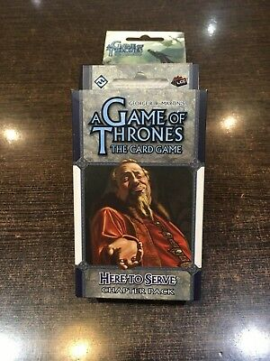 A Game of Thrones HERE TO SERVE Chapter pack Fantasy flight LCG
