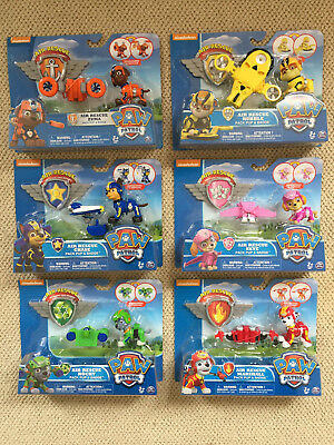 NEW! (6) PAW Patrol Toys AIR RESCUE Pups Skye Rubble Zuma Marshall Rocky &  Chase