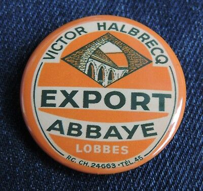 Pin Button Badge Ø38mm (bière) Victor Halbrecq EXPORT ABBAYE ( LOBBES )