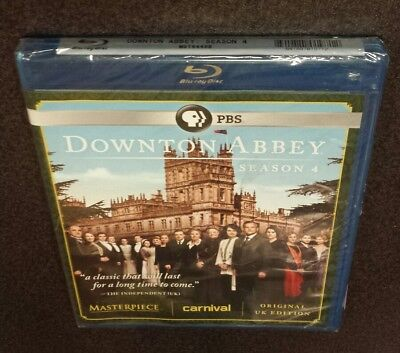 Downton Abbey: Season 4 (Blu-Ray, 3-Disc Set) PBS British tv show series NEW