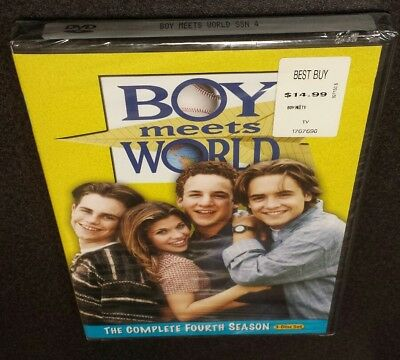 Boy Meets World: The Complete Fourth Season (DVD, 3-Disc) 4 tv show series NEW