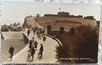 Early Postcard Eastbourne The Wish Tower Judges Ltd 1062 Sepia RP