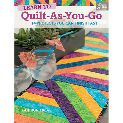 NEW Learn To Quilt-As-You-Go- Book