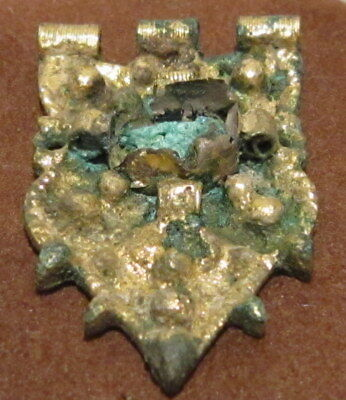 Byzantine, Early Medieval Period Silver GILT Jewelry Mount Decoration # 42C