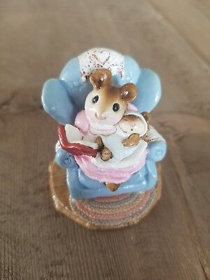 Wee Forest Folk Babysitter M066 MIB Blue Chair Signed by Annette Peterson