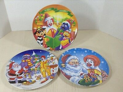 """McDonalds Plate Holiday Plastic Collectible 9"""" 2000 1997"""