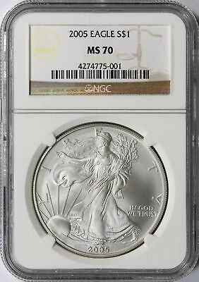 2005 American Silver Eagle $1 NGC MS70 USSE