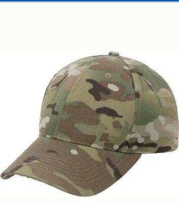 MultiCam Ripstop Tactical Hat Military Baseball Cap Adjustable Camo OCP  Scorpion d55b67d5a0d