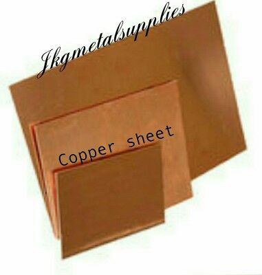 0.9 MM thick - COPPER SHEET PLATE  -guillotine cut- many sizes.