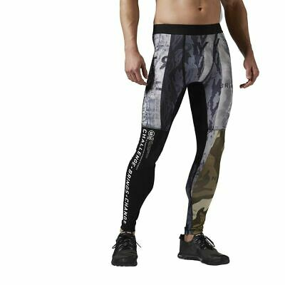 [S93641] Mens Reebok One Series Camo Tight