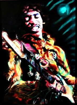 Jimi Hendrix Playing Vinyl Sticker Decal Hippie Rock n Roll Grateful Dead*