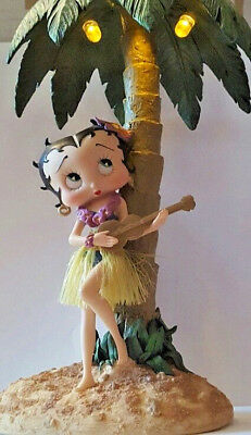 Betty Boop Hawaiian Hula Girl Light up Palm Tree 2003 King Feature Syndicate