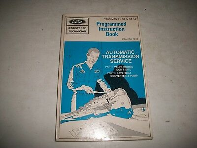 Ford Registered Technician Handbook 1971 - Automatic Transmission Service
