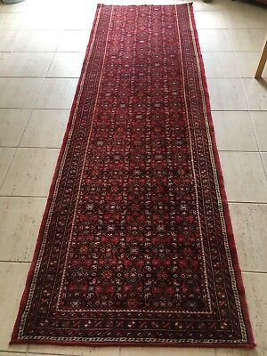 Authentic Persian Wool Hall Runner Rug 2.8mtrs x 87cm
