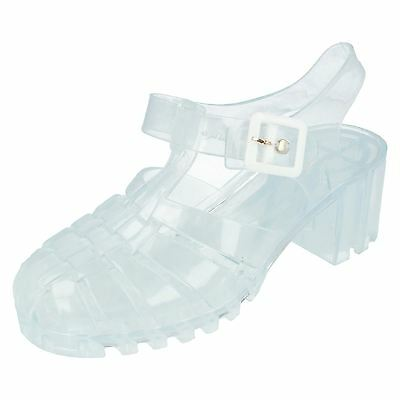 78608aac7887 LADIES SPOT ON 90 s retro jelly buckle sandals F0714 -  7.97