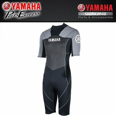 New Gray And Black Yamaha Men's Shorty Wetsuit Mar-15Nst-Gy-**