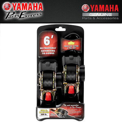 "New Yamaha Heavy-Duty 1"" 1500Lb Retractable Ratcheting Tie Downs Acc-Oss58-40-17"
