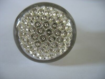 HTF Antique Mercury Glass Dew Drop honeycomb Door Knob Doorknob 1 7/8""