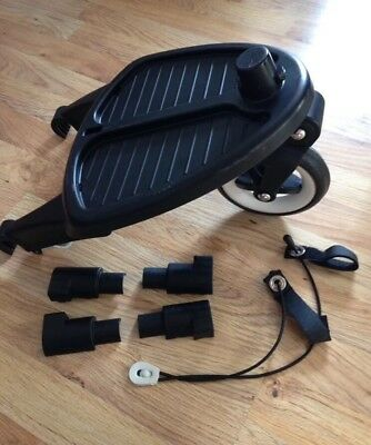 Bugaboo Wheeled Board Buggy Board + Adaptor For Cameleon Frog Gecko Ex Condition