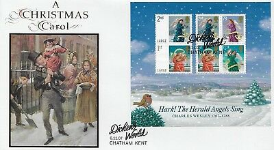Gb 2007 Christmas Miniature Sheet Buckingham Covers Official Fdc