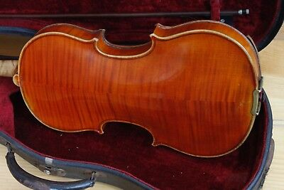 "Beautiful Old antique violin labeled ""Heinrich Th. Heberlein Jr. c 1923"""