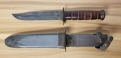 US WW2 USN Navy Ka-Bar Ka Bar MK2 Mark 2 MK 2 Fighting Knife W/ Scabbard.
