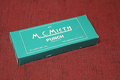 "M. C. Mieth 448 3/8"" round Custom Shape Hand Punch New"