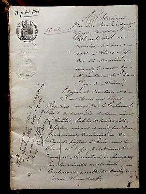 1860 Old Signed and Handwritten Document 24 PAGES