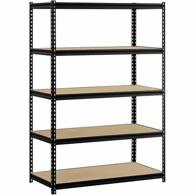 "Muscle Rack 48""W x 24""D x 72""H 5-Shelf Steel Shelving, Black, *NEW*"