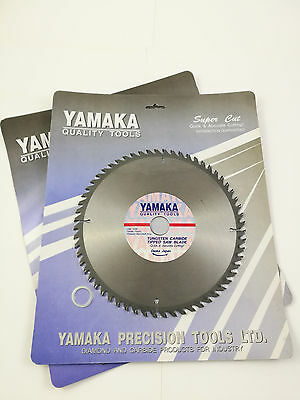 """2 X 9"""" Saw Blade 60 Tooth Yamaka Japan Tungsten Tipped Special Top Quality"""