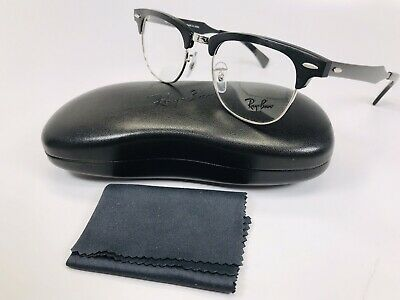 ▪️New Ray Ban RB 6295 2804 Black Clubmaster Eyeglasses 48/21/140 with Case