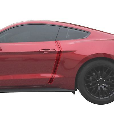 2015-18 fits Ford Mustang 2dr Invisible Door Edge Guard Pre-Cut Custom Fit Clear