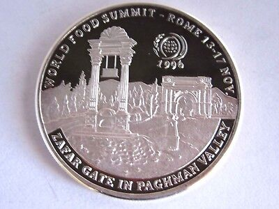 1996 Afghanistan World Food Summit 500 Afghanis Silver Coin, Proof