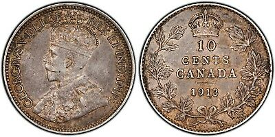 ELITE COINS - 10 cents - 1913 BROAD LEAVES - PCGS AU50 BOOK $3500 WOW (a112b)