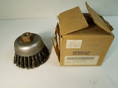 "NEW Advance 77283  4"" Knot Wheel Cup Wire Brush ~ HIGH GRADE BRUSH!"