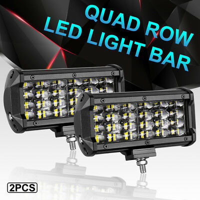"7"" 240W Cree Led Work Light Bar Offroad Spot Comb Fog Driving Truck Atv 4Wd 12V"