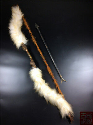 antique    Ancient Chinese tiger head traditional long bow and arrow.
