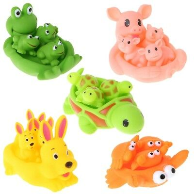Cute Animal Float Squeeze Sound Squeaky Shower Water Baby Bath Bathtub Toys Set