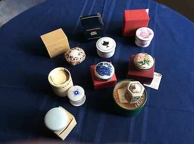 Set of 8 miniature boxes from famous porcelain houses