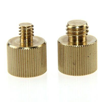 """New 2Pcs CAMVATE Thread Adapter Female/Male 1/4""""-20 to 3/8""""-16 For Camera"""