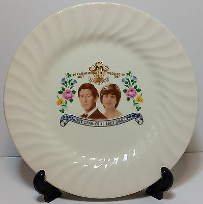 Johnson Australia Porcelain Plate Commemorate the Marriage Prince Charles Diana
