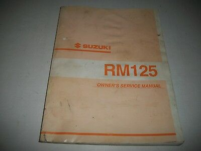 2001 Suzuki Rm125 Motorcycle Owners Service Shop Manual
